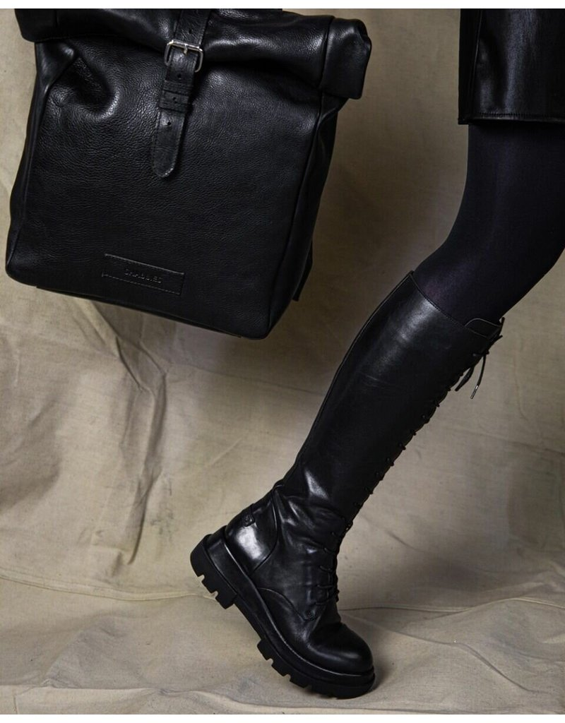 Shabbies Boot Laceup SHS1036 Black
