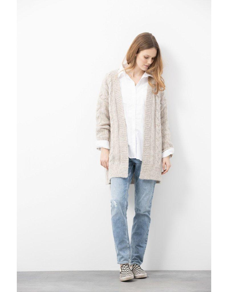 Blue Sportswear Cardigan Charmonix knit Ecru m.
