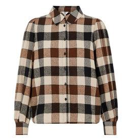 Object Johanna Shirt 118 Sepia Check