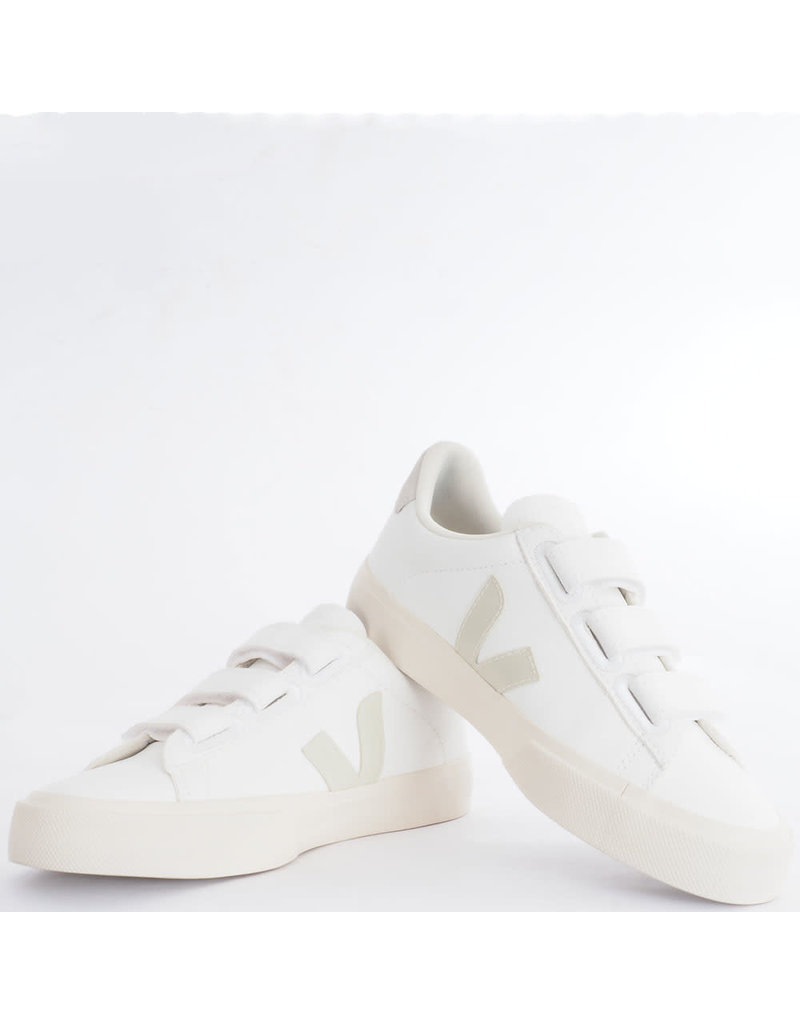 Veja Sneaker Recife logo White/Pierre