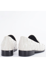 Bibi Lou Loafer Trenzado, Charol Off White