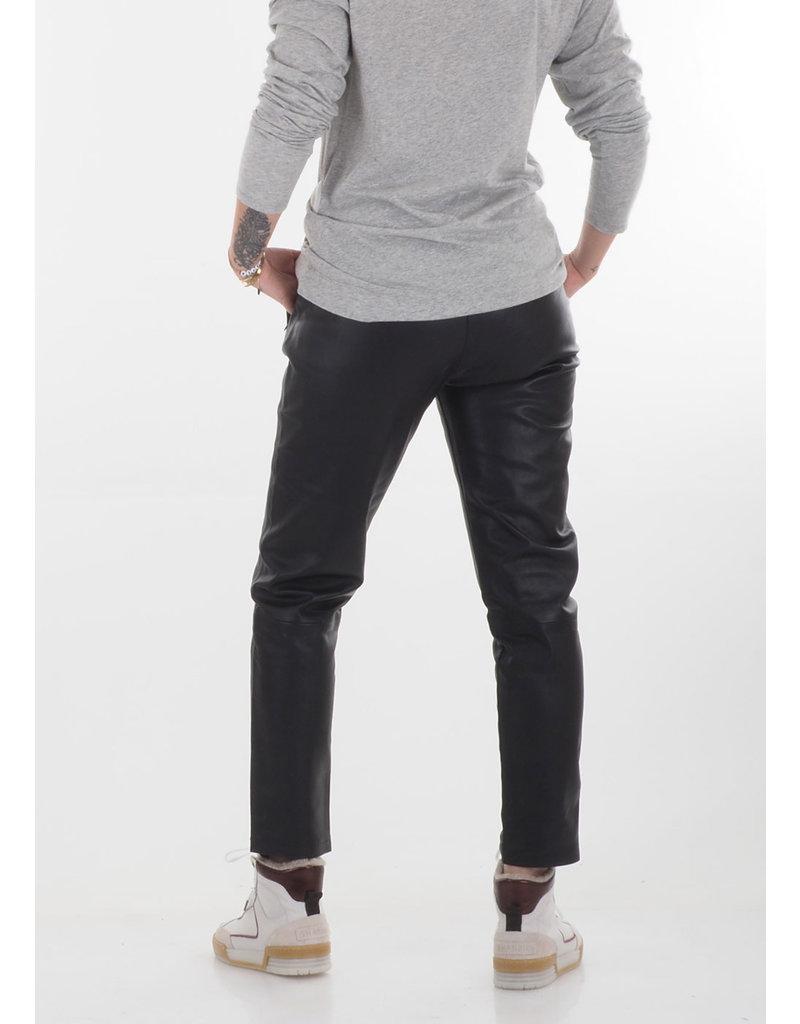 Penn&Ink N.Y. Real leather trouser black