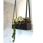 Plantenbak Staal+leder