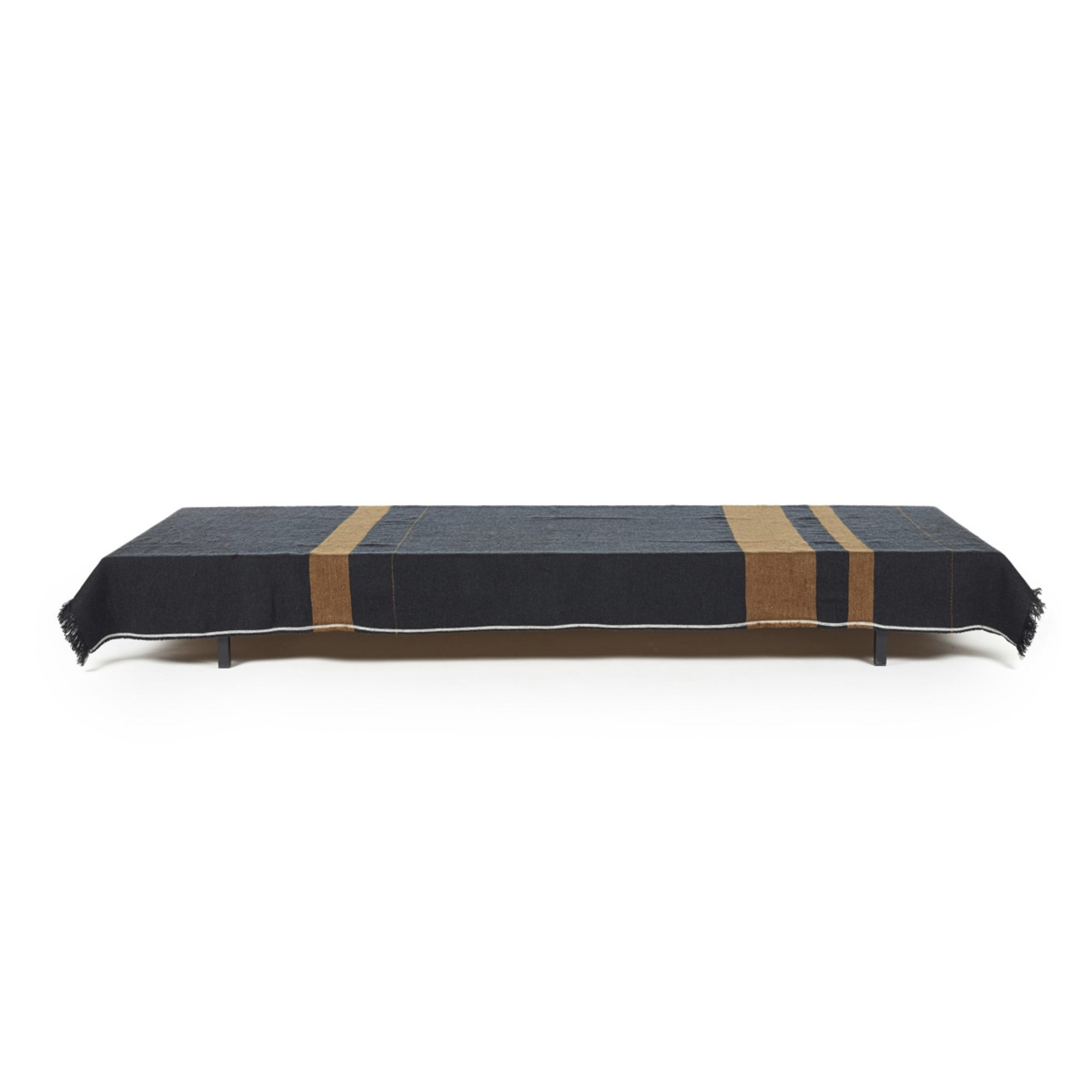 LIBECO PLAID OSCAR BLACK STRIPE 135x220