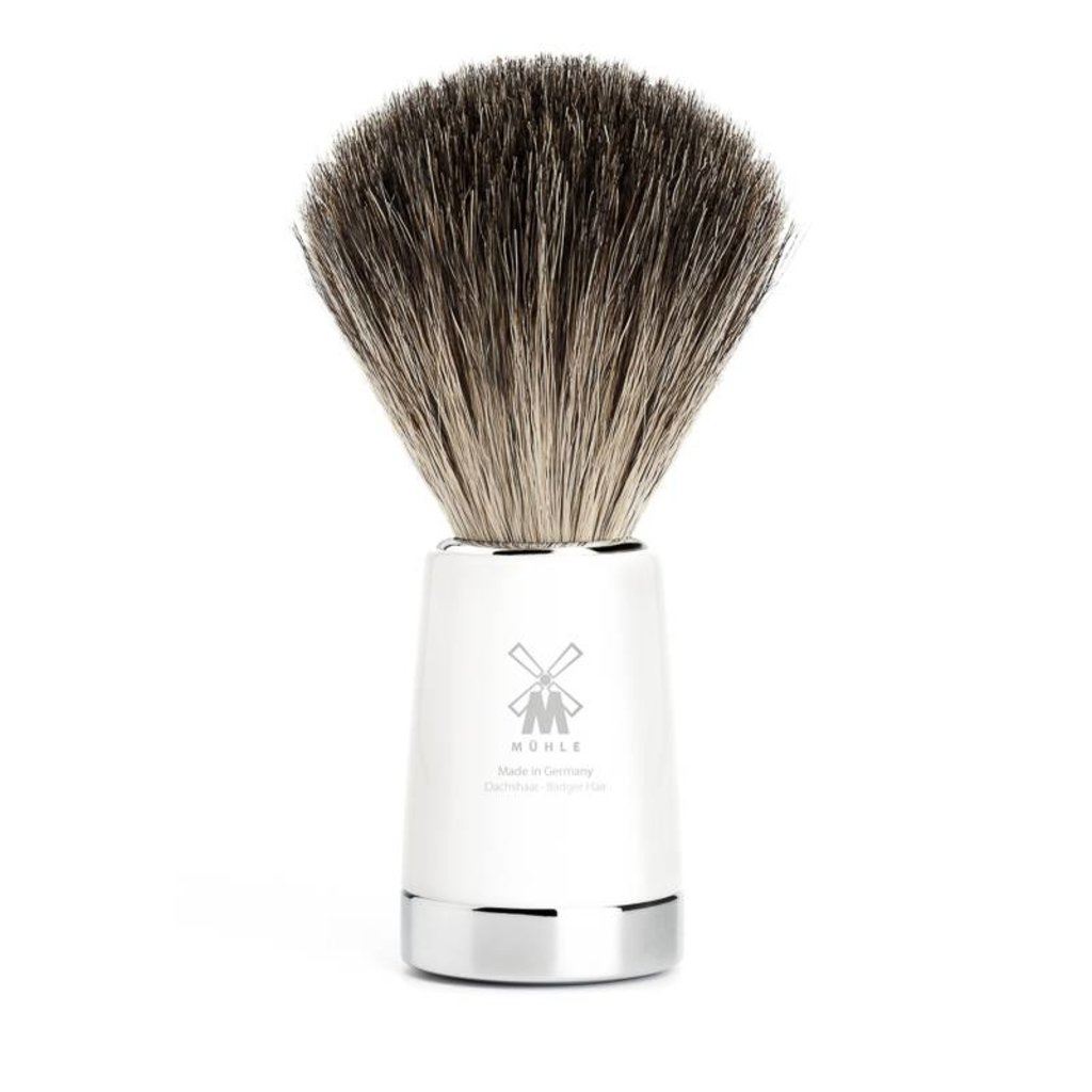 Shaving Brush Pure Badger - White
