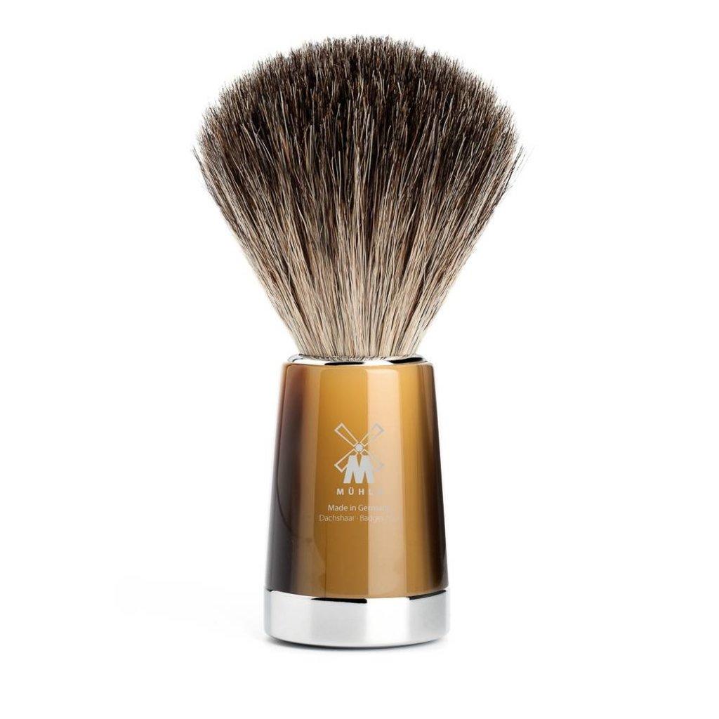 Shaving Brush Pure Badger - High-grade resin Horn brown