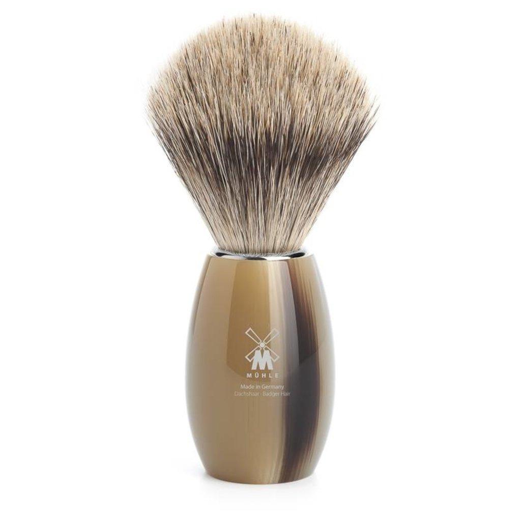 Shaving Brush Fine Badger - High-grade resin Horn brown