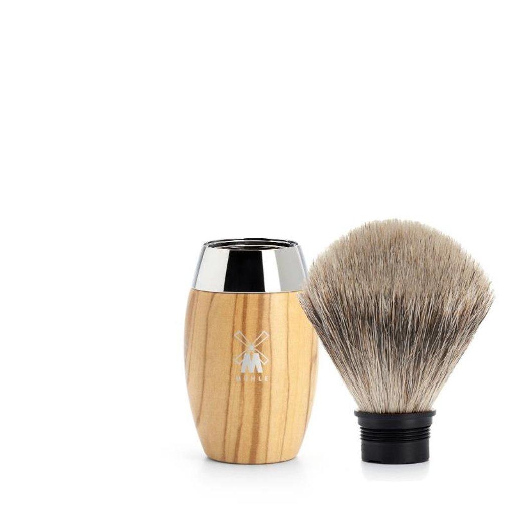 Shaving Brush Fine Badger - Olive wood