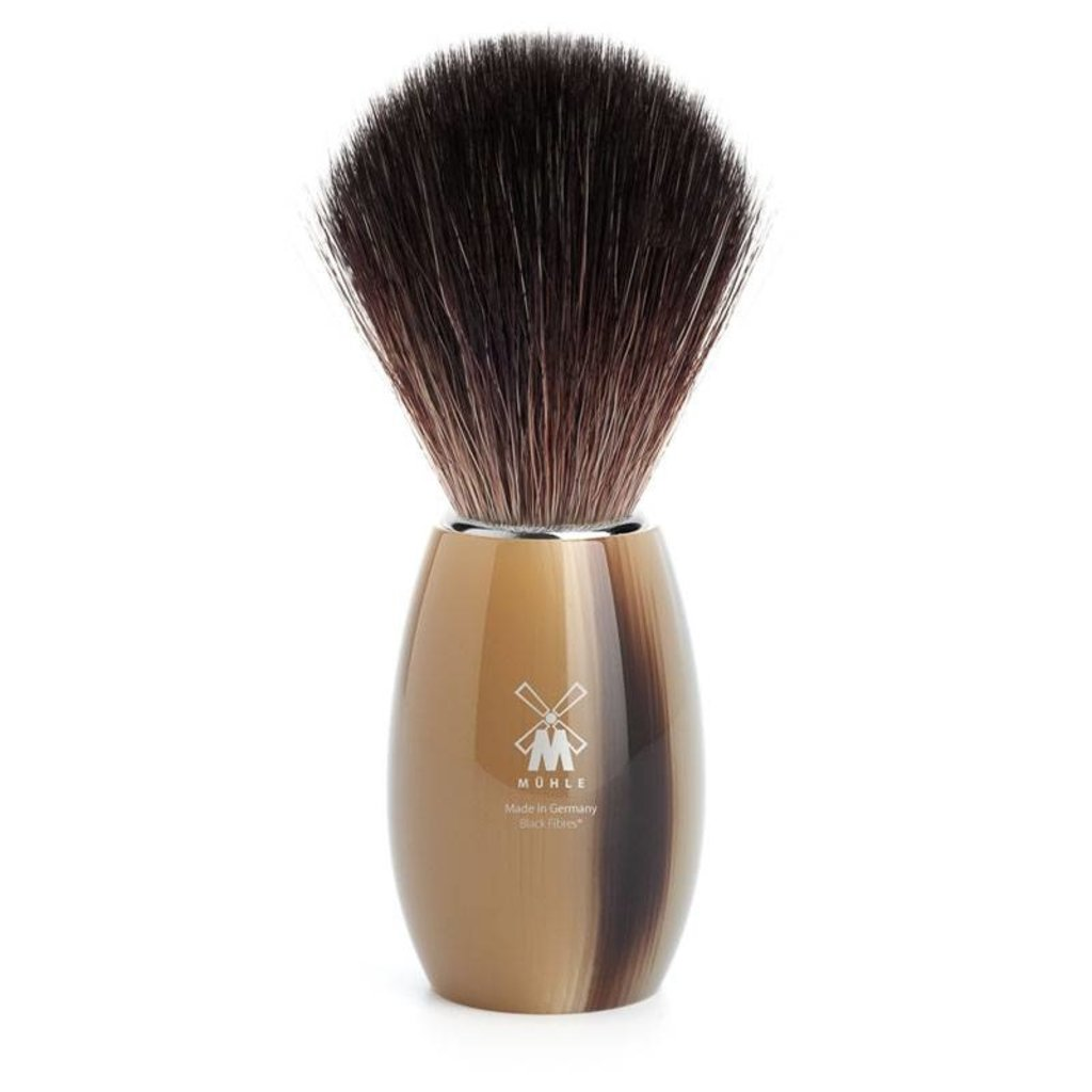 Shaving Brush Black Fibre® - High-grade resin Horn brown