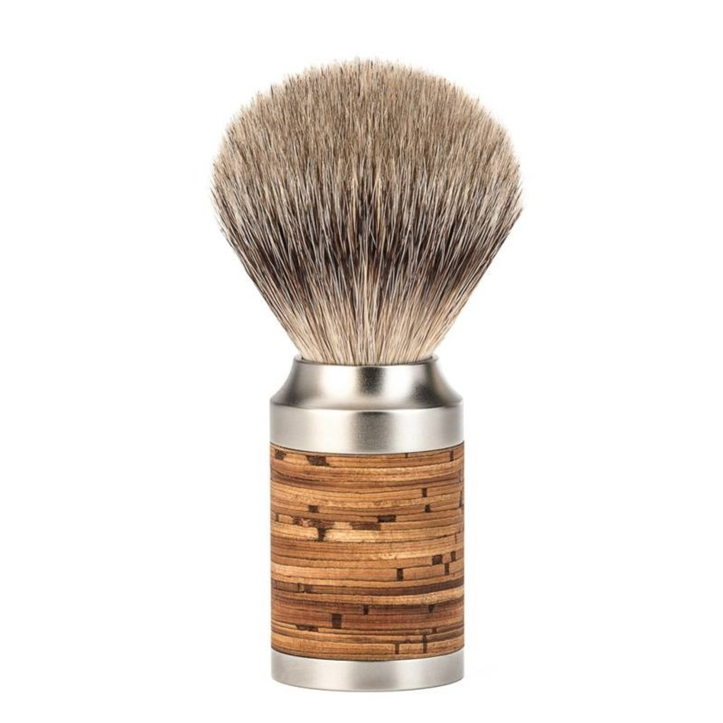 Shaving Brush Silvertip Badger - Brich / RVS