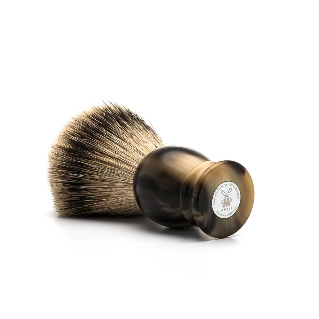 Shaving Brush Silvertip Badger - High-grade resin Horn brown