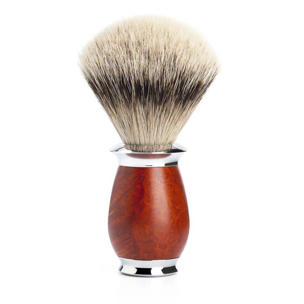 Scheerkwast Silvertip Dassenhaar - Briar hout