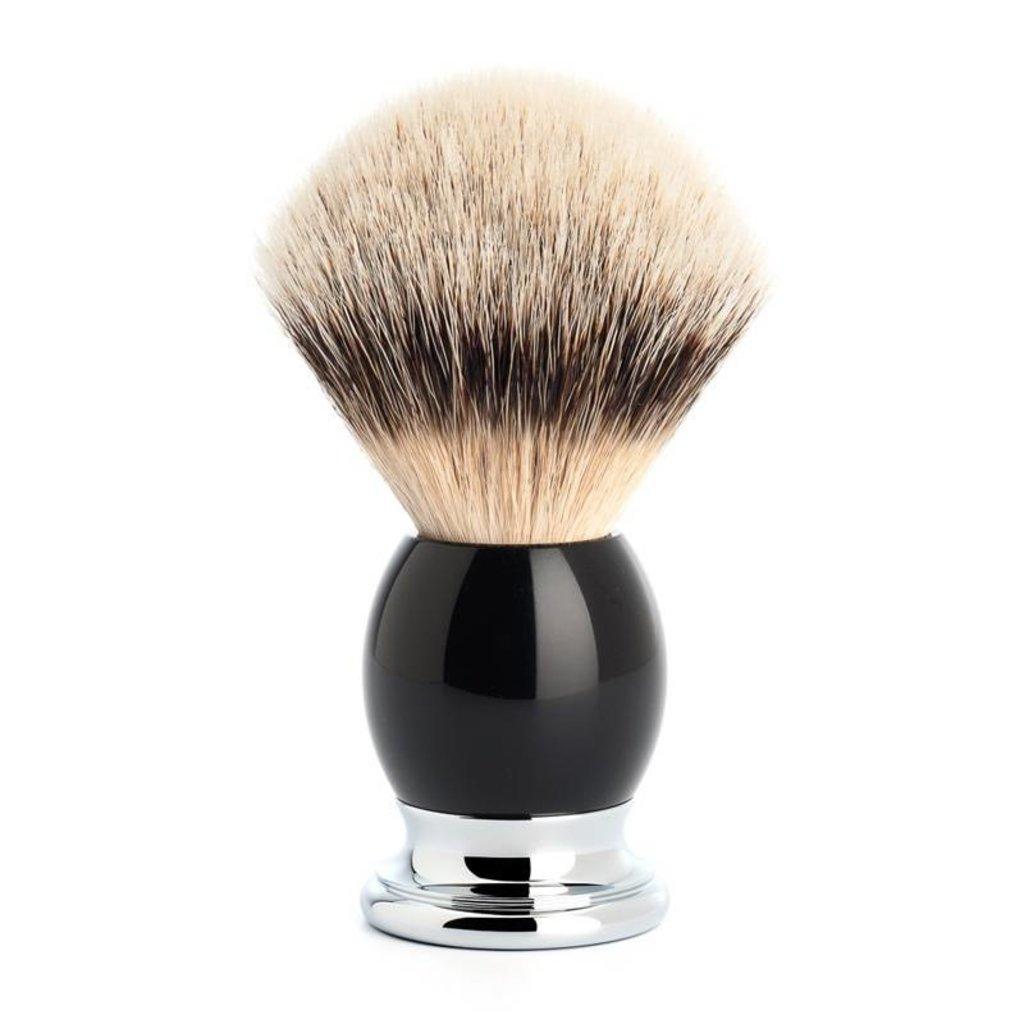 Scheerkwast Silvertip Dassenhaar - Zwart