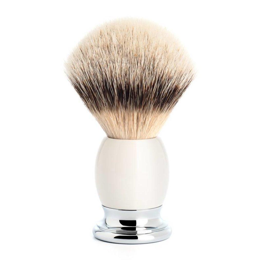 Scheerkwast Silvertip Dassenhaar - Porselein