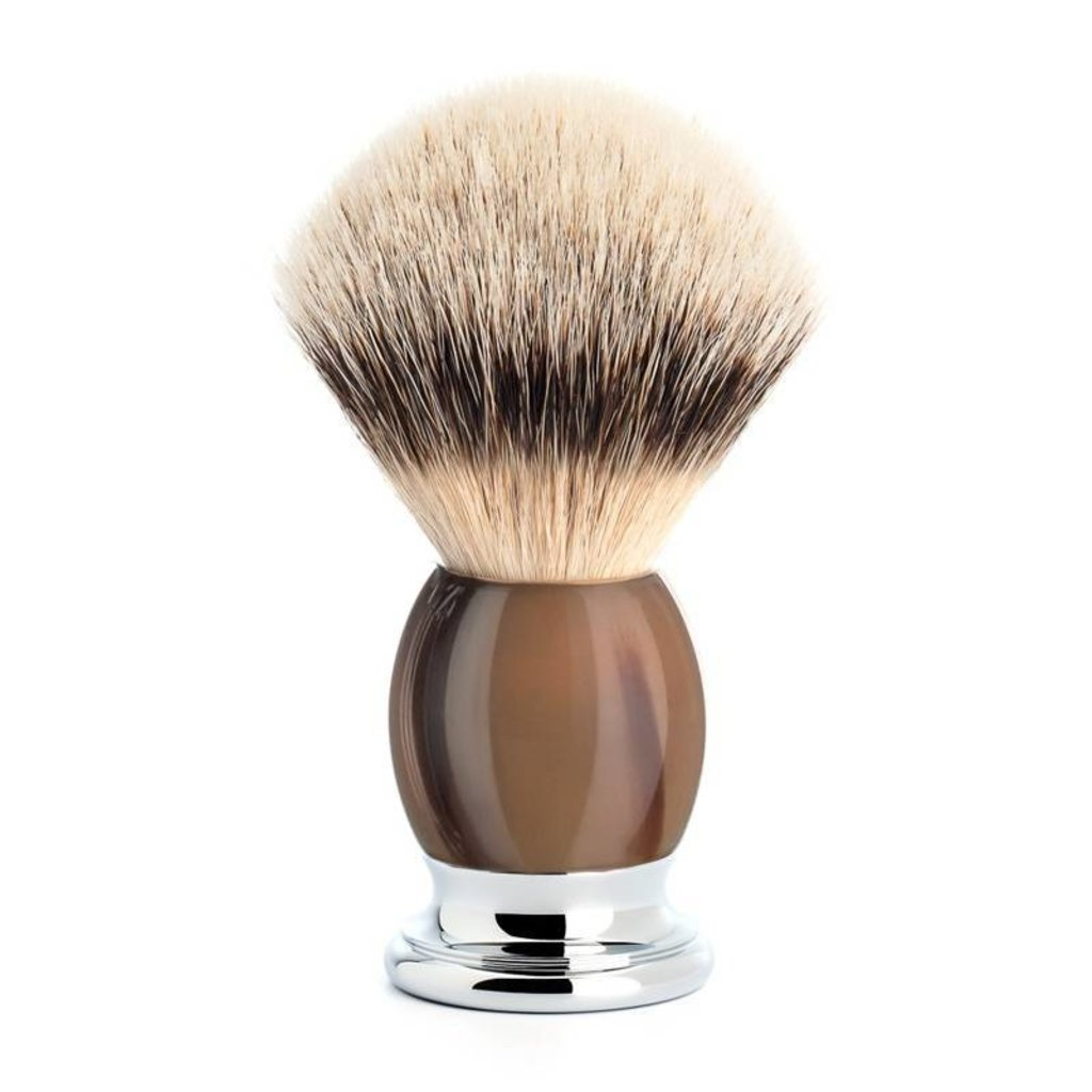 Scheerkwast Silvertip Dassenhaar - Buffelhoorn