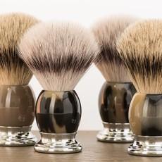 Shaving Brush Silvertip Badger - Genuine horn