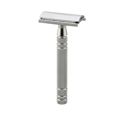 AS-D2 - Safety Razor - Mat Chroom Gesloten Kam
