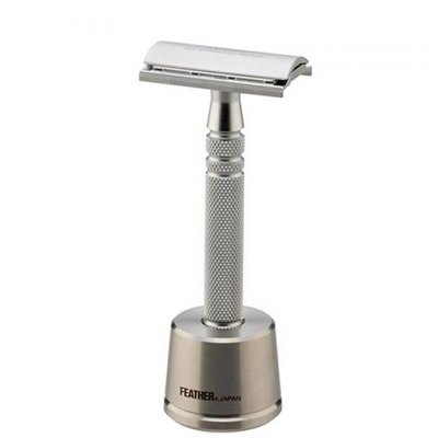AS-D2S - Safety Razor - Mat Chroom Gesloten Kam