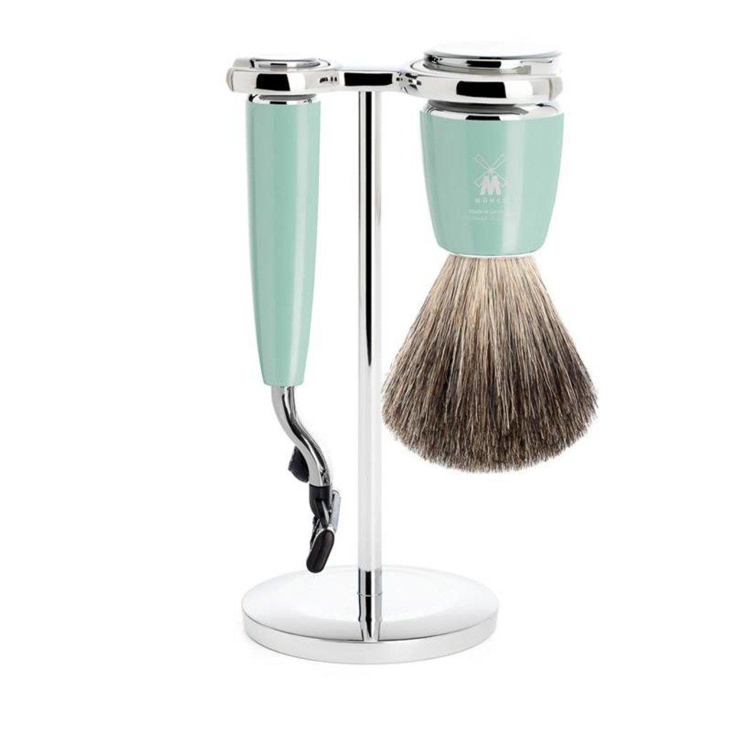 Shaving Set Rytmo 3-part - High-grade resin Mint - Mach3®