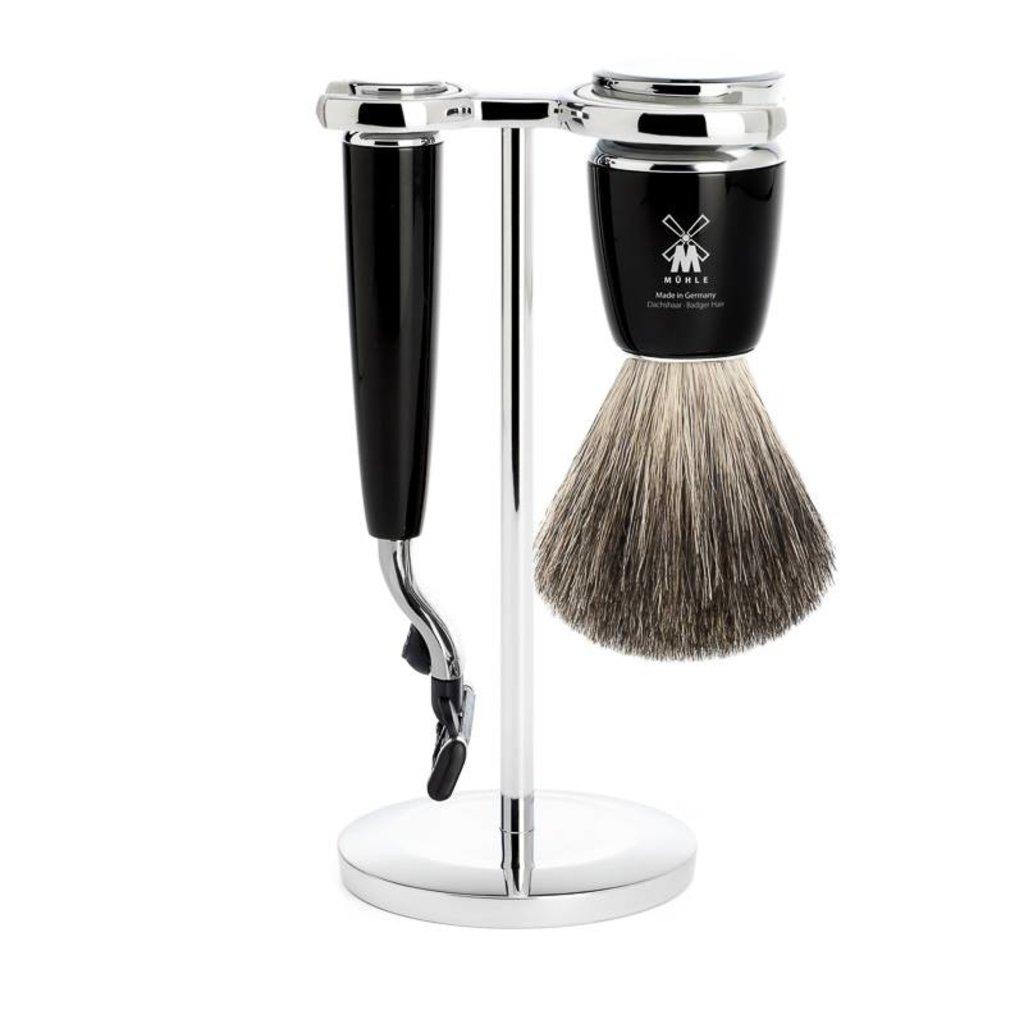 Shaving Set Rytmo 3-part - Black - Mach3®