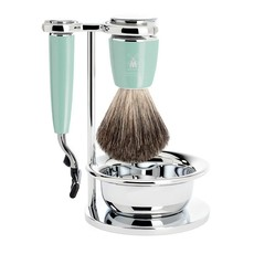 Shaving Set Rytmo 4-part - High-grade resin Mint - Mach3®