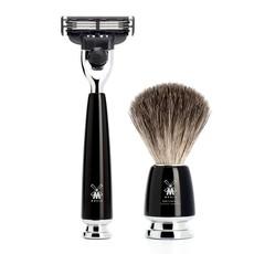 Shaving Set Rytmo 4-part - Black - Mach3®