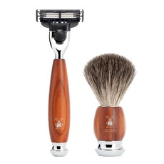 Shaving Set Vivo 3-part - Plum wood - Mach3®