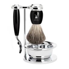 Shaving Set Vivo 4-part - Black - Mach3®