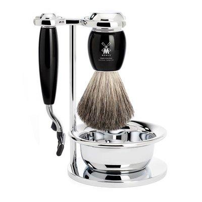 S81M336SM3 - Shaving Set Vivo - Black - Mach3® - Badger