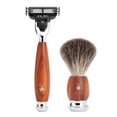 Shaving Set Vivo 4-part - Plum wood - Mach3®