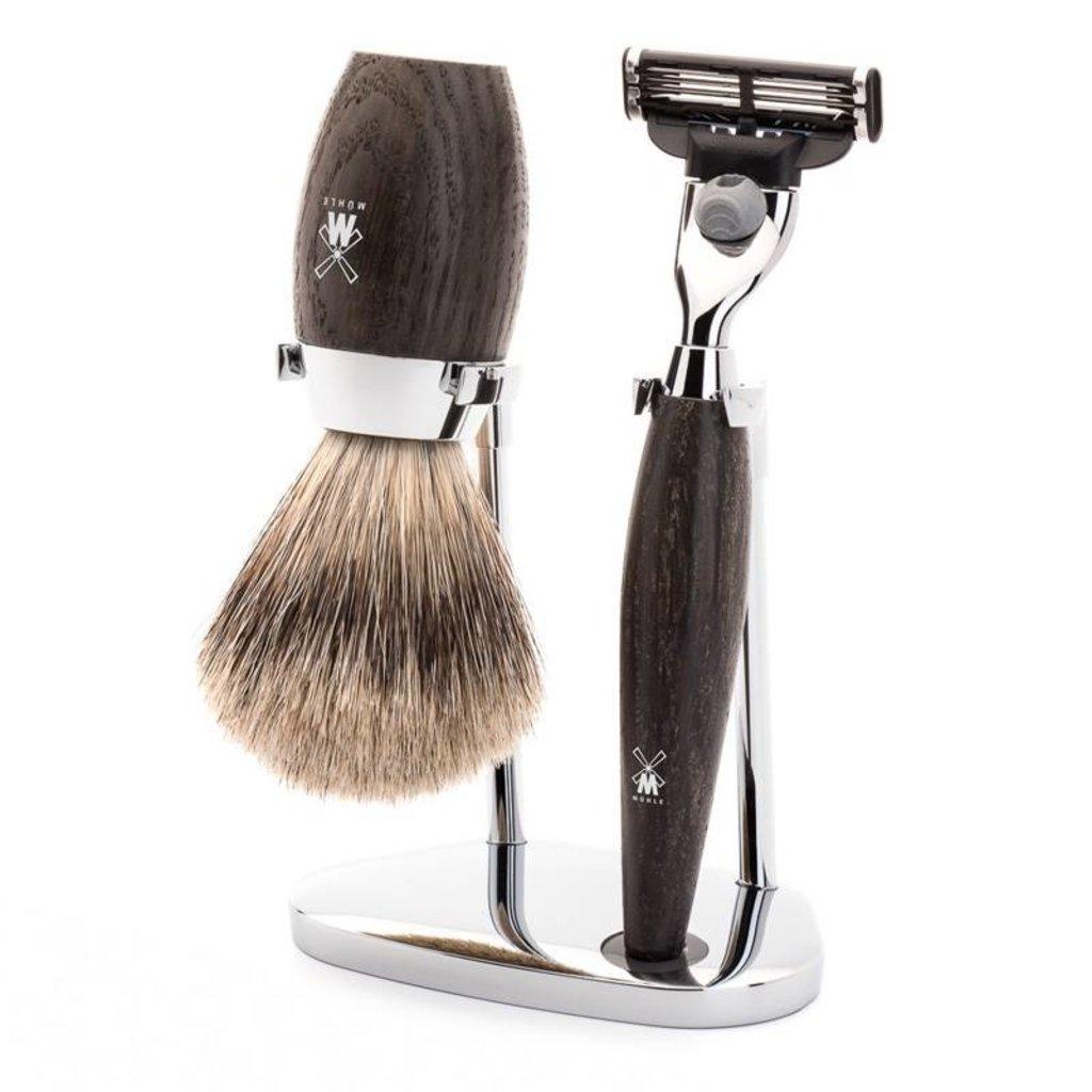 Shaving Set Kosmo 3-part - Bog Oak - Mach3®