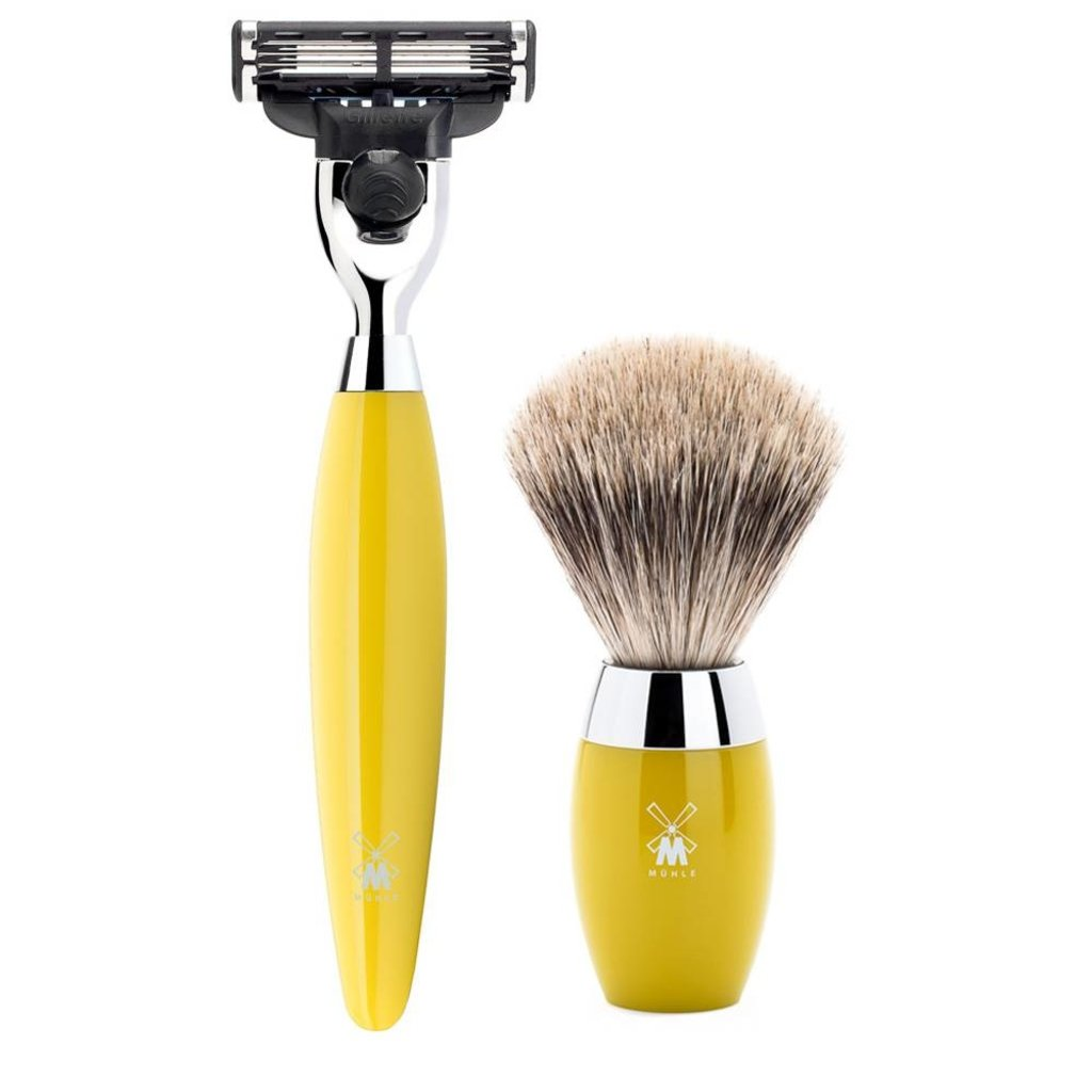 Shaving Set Kosmo 3-part - Yellow - Mach3®