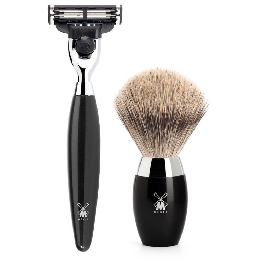 Shaving Set Kosmo 3-part - Black - Mach3®