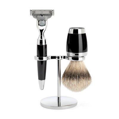 S091K76M3 - Shaving Set Stylo - Black - Mach3® - Badger