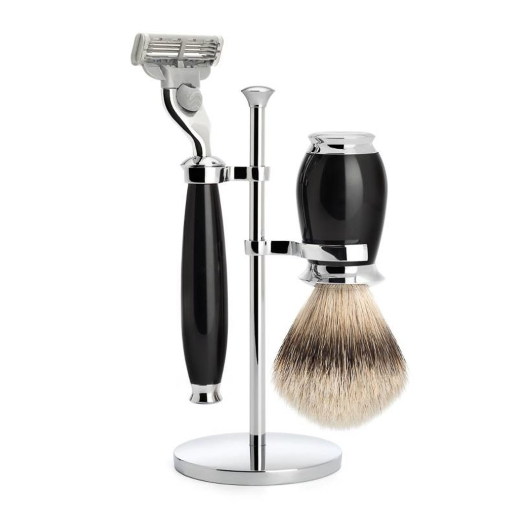 Shaving Set Purist 3-part - Black - Mach3®