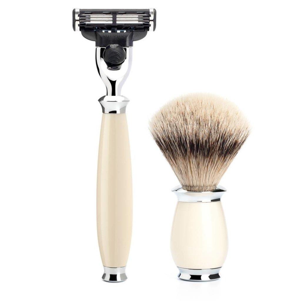 Shaving Set Purist 3-part - Ivory - Mach3®