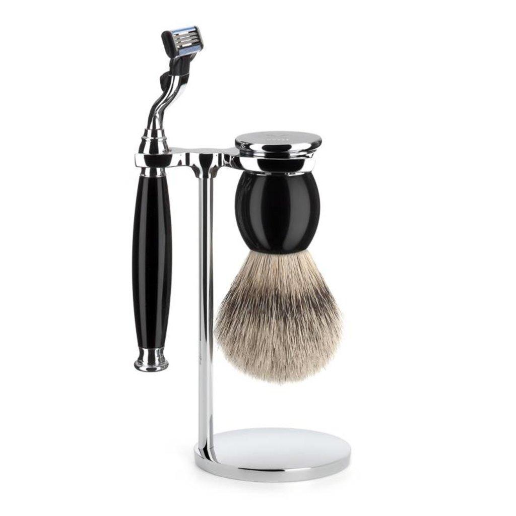 Shaving Set Sophist 3-part - Black - Mach3®