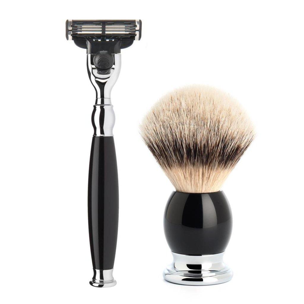 Shaving Set Sophist 4-part - Black - Mach3®