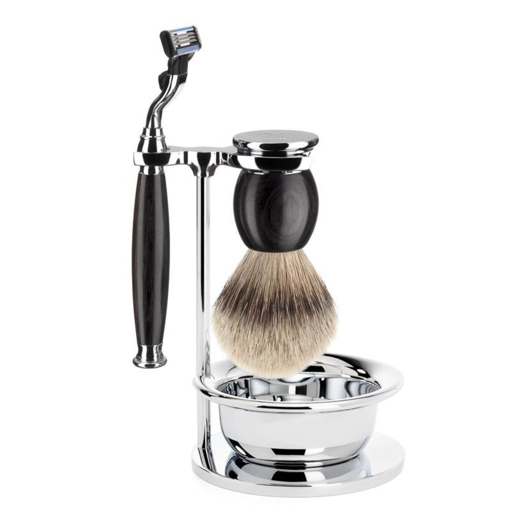 Shaving Set Sophist 4-part - Blackwood - Mach3®