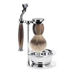 Shaving Set Sophist 4-part - Genuine horn - Mach3®