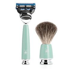 Shaving Set Rytmo 3-part - High-grade resin Mint - Fusion®