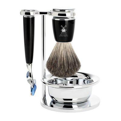 S81M226SF - Shaving Set Rytmo - Black - Fusion® - Badger