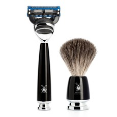 Shaving Set Rytmo 4-part - Black - Fusion®