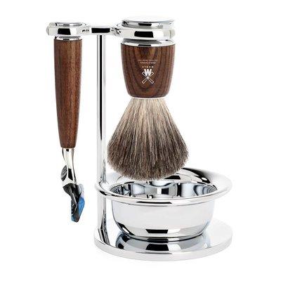 S81H220SF - Shaving Set Rytmo - Steamed ash - Fusion® - Badger