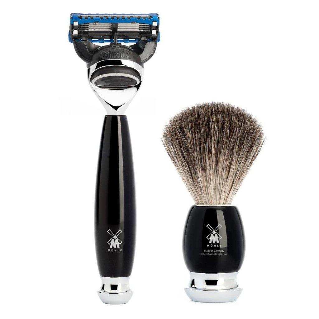 Shaving Set Vivo 4-part - Black - Fusion®