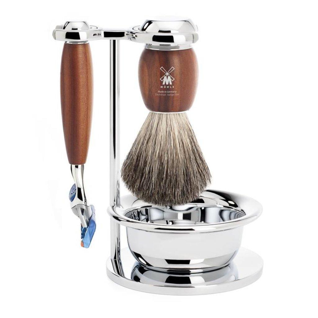 Shaving Set Vivo 4-part - Plum wood - Fusion®