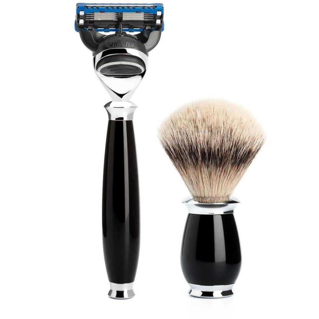 Shaving Set Purist 3-part - Black - Fusion®