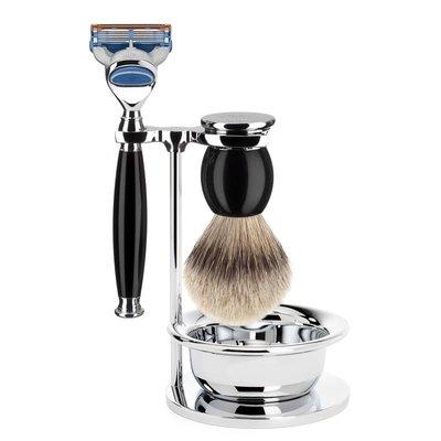 S93K44SF - Shaving Set Sophist - Black - Fusion® - Badger