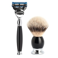Shaving Set Sophist 4-part - Black - Fusion®