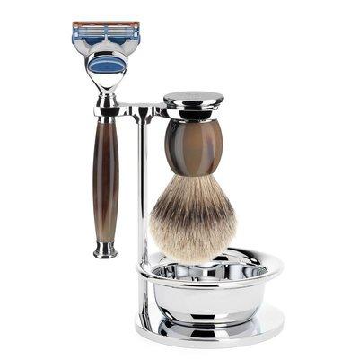 S93B42SF - Shaving Set Sophist - Genuine horn - Fusion® - Badger